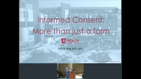 Thumbnail for entry 12/18/19 Topic: Informed Consent