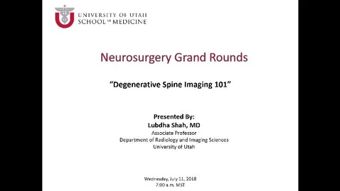Thumbnail for entry Degenerative Spine Imaging  101