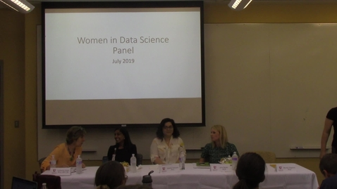 Thumbnail for entry Women In Data Science Panel 2019