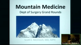 Thumbnail for entry 12/13/17 Mountain Medicine: from Salt Lake to the Himalaya