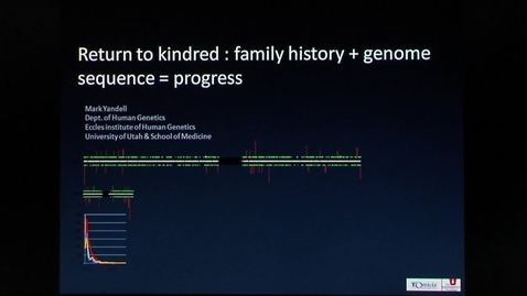 Thumbnail for entry Return to Kindred: Family History + Genome Sequence = Progress