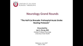 Thumbnail for entry The Half-Cut Brocade: Prehospital Acute Stroke Routing Protocols