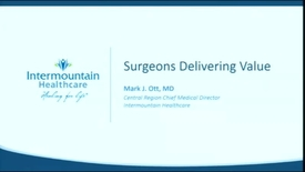 Thumbnail for entry 6/14/17 Surgeons Delivering Value