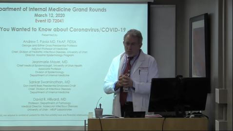 Thumbnail for entry COVID-19 Grand Rounds March 12 2020