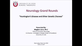 Thumbnail for entry Huntington's Disease and Other Genetic Choreas