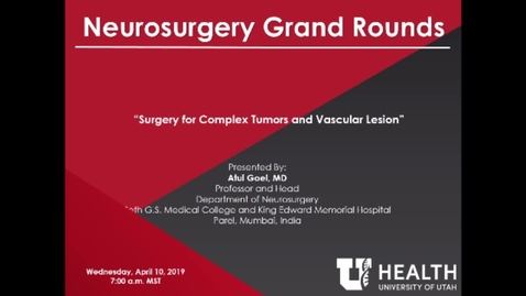 Thumbnail for entry Surgery for Complex Tumors and Vascular Lesions