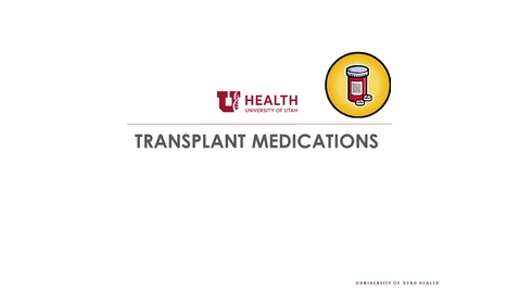 Thumbnail for entry Pre Transplant Medications