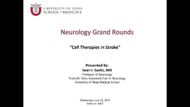 Thumbnail for entry Cell Therapies in Stroke