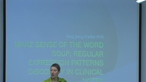 Thumbnail for entry Make Sense of the Word Soup: Regular Expression Patterns Discovery in Clinical Notes