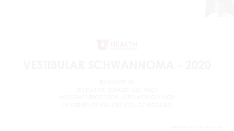 Thumbnail for entry Vestibular Schwannoma