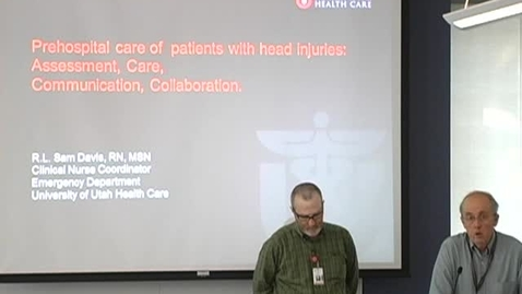 Thumbnail for entry Prehospital care of patients w/ head injuries May 15, 2013