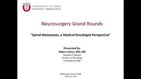 Thumbnail for entry Spinal Metastases, a Medical Oncologist Perspective