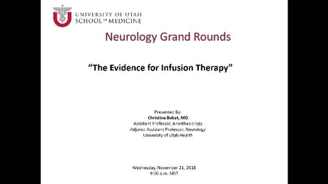 Thumbnail for entry The Evidence for Infusion Therapy