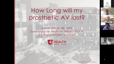 Thumbnail for entry Part 1: How long will my prosthetic AV last?   Part 2: TAVR for D3 Aortic Stenosis: An echocardiographic evaluation
