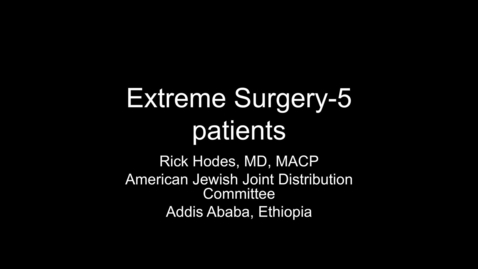 Thumbnail for entry Rick Hodes, MD, MACP