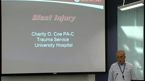 Thumbnail for entry Blast injury September 21, 2011
