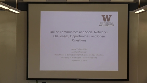 Thumbnail for entry Online Communities and Social Networks: Challenges, Opportunities, and Open Questions