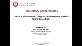 Thumbnail for entry Electrical Stimulation as a Diagnostic and Therapeutic Modality for the Human Brain