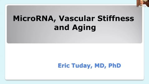 Thumbnail for entry MicroRNA, vascular stiffness & aging