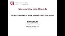 Thumbnail for entry Neurosurgery Grand Rounds 03-29-2017