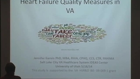Thumbnail for entry Automating the Inpatient Chronic Heart Failure Quality Measures in VA