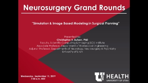 Thumbnail for entry Simulation & Image Based Modeling in Surgical Planning