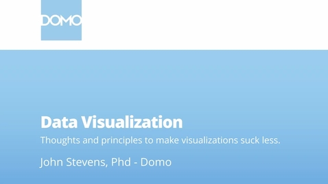 Thumbnail for entry Data Visualization - Thoughts and Principles to Make Visualizations Suck Less
