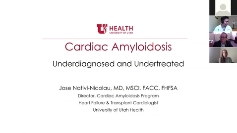 Thumbnail for entry Cardiac amyloidosis: underdiagnosed & undertreated
