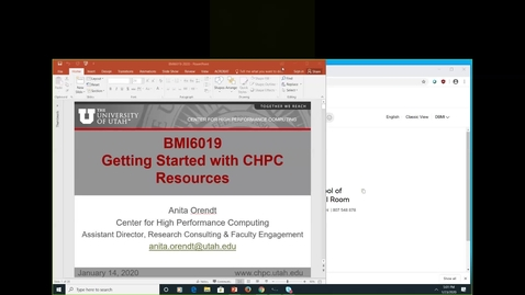 Thumbnail for entry BMI 6019 - Getting Started with CHPC Resources