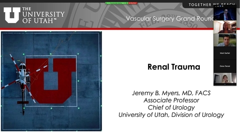 Thumbnail for entry Renal Trauma for Vascular Surgeons 2020