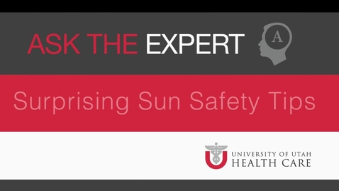 Thumbnail for entry Sun Safety