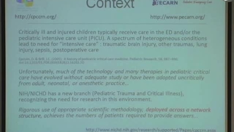 Thumbnail for entry Clinical Research Informatics in Pediatric Critical Care