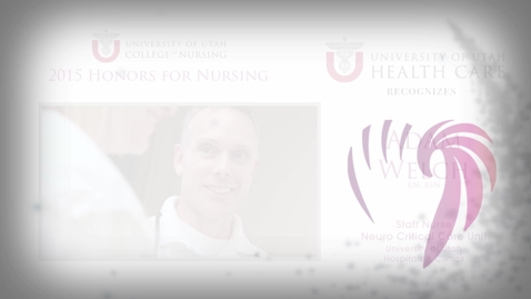 Thumbnail for entry Adam Welch - University of Utah Health Care Honoree