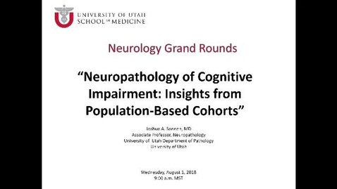 Thumbnail for entry Neuropathology of Cognitive Impairment: Insights from Population-Based Cohorts