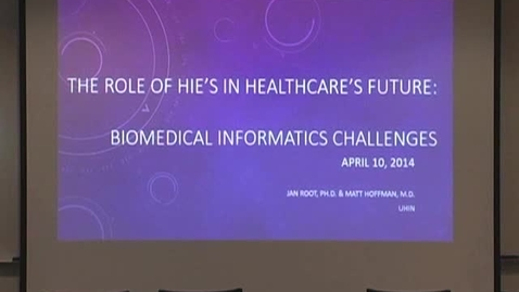 Thumbnail for entry The cHIE: How it Works and its Biomedical Informatics Challenges