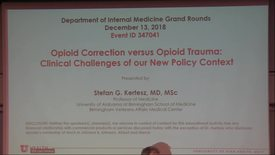 Thumbnail for entry Opioid correction vs Opioid trauma: clinical challenges of our new policy context