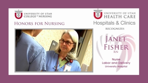 Thumbnail for entry U of U Recognizes Janet Fisher