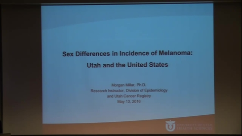 Thumbnail for entry Sex Differences in Incidence of Melanoma: Utah & the US