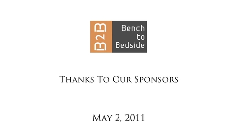 Thumbnail for entry Bench to Bedside