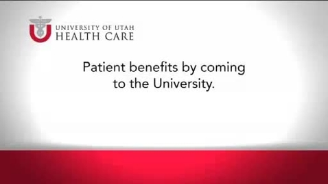 Thumbnail for entry Patient benefits by coming to the University.