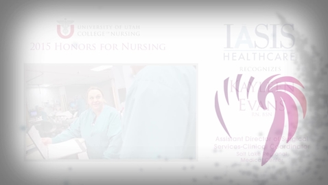 Thumbnail for entry Kayleen Evans IASIS Healthcare Honoree