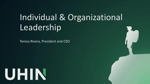 Thumbnail for entry Individual & Organizational Leadership