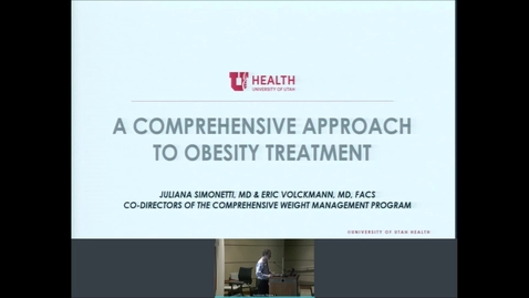 Thumbnail for entry 11/20/2019 Multidisciplinary Management of Obesity