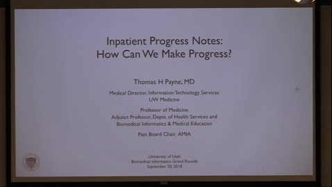 Thumbnail for entry Inpatient Progress Notes: How Can We Make Progress?