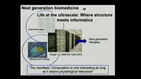 Thumbnail for entry Life at the ultrascale: Where structure meets informatics | Edward Lyman, PhD | 2010-09-23