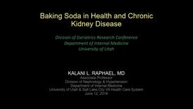 Thumbnail for entry Baking soda in health & chronic kidney disease