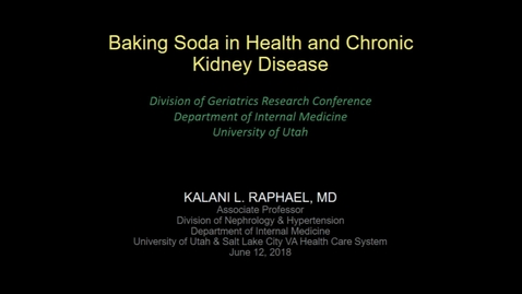 Thumbnail for entry Baking soda in health & chronic kidney disease