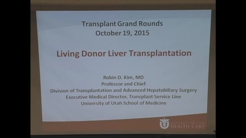 Thumbnail for entry Living donor liver transplantation