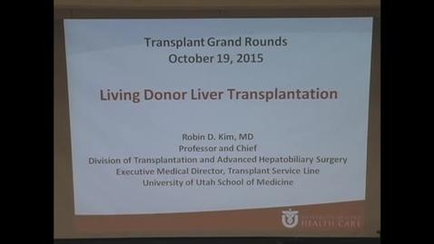 Thumbnail for entry Living donor liver transplantation