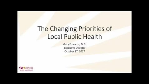 Thumbnail for entry The Daily Changing Priorities of Local Public Health